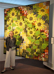 At the opening of Quilt National 2013 in Athens, Ohio.<br />Photograph by Benedicte Caneill.